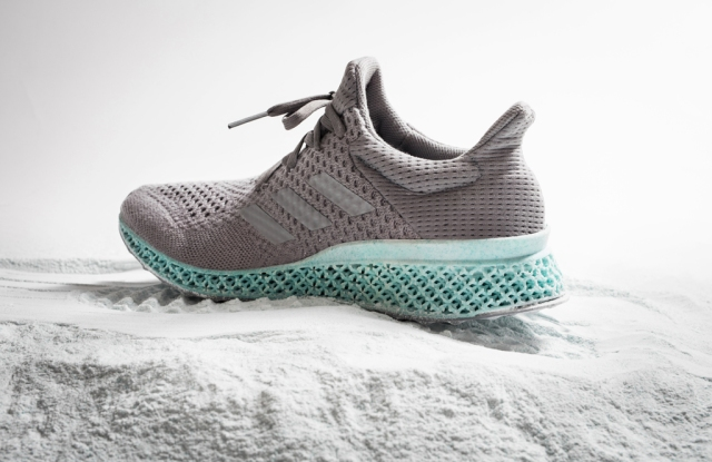 The Adidas new prototype featuring a 3-D printed sole.