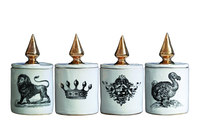 Anhalter Apothecary Moderne candles have containers created by ceramicist Bernd Kühn and a scent developed by perfumer James Heeley