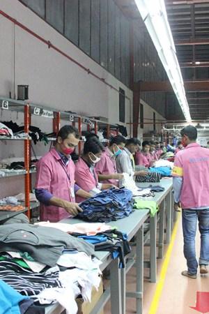 A garment factory in Bangladesh