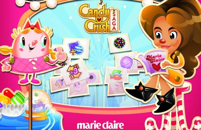Marie Claire's Candy Crush Saga level featuring Nina Garcia.