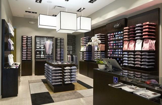 A Eton store interior.