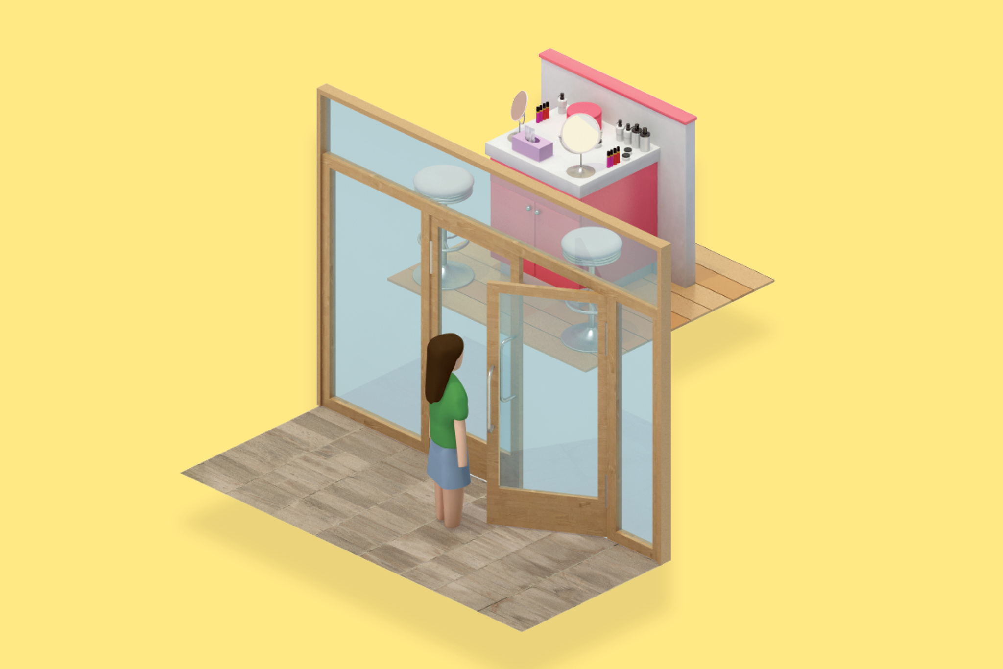 """Add Service: """"Place service stations — nail or brow bars — at the window to attract consumers' attention."""" — Joe Magnacca, Mass Retail"""