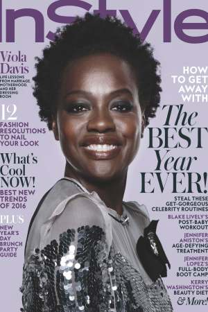 InStyle's January 2016 cover featuring Viola Davis.