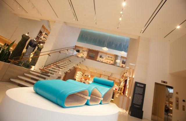 Inside Louis Vuitton's Miami Design District store.