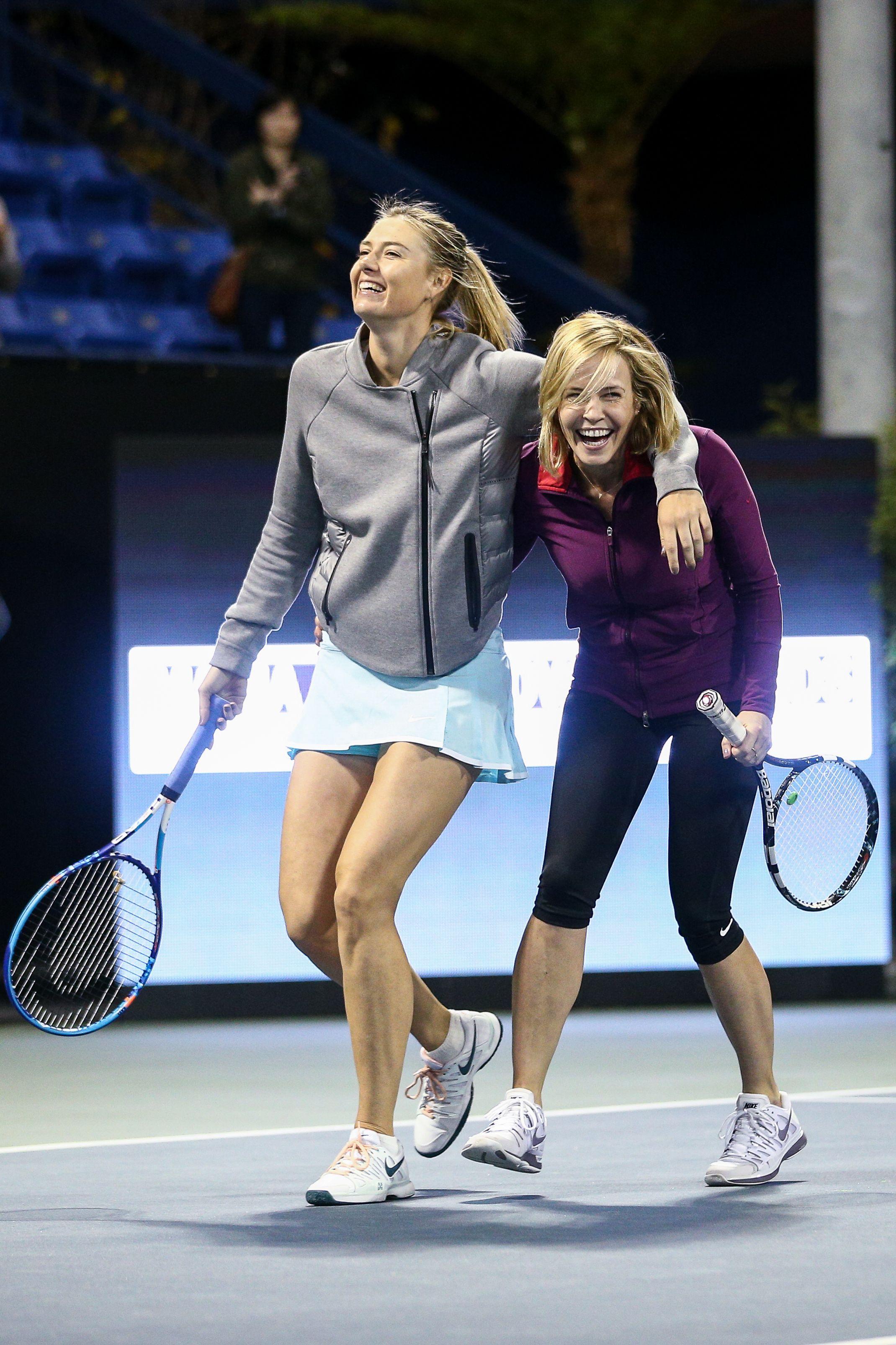 Maria Sharapova & Friends Tennis Event, Day 1, Los Angeles, America - 12 Dec 2015