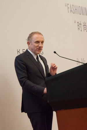 Francois-Henri Pinault speaking at Tsinghua University in Beijing