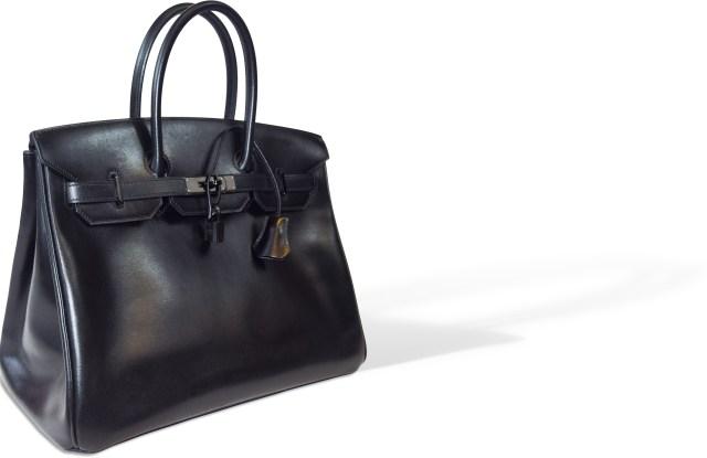 Hermès Birkin So Black bag valued at between 16,000 euros and 18,000 euros