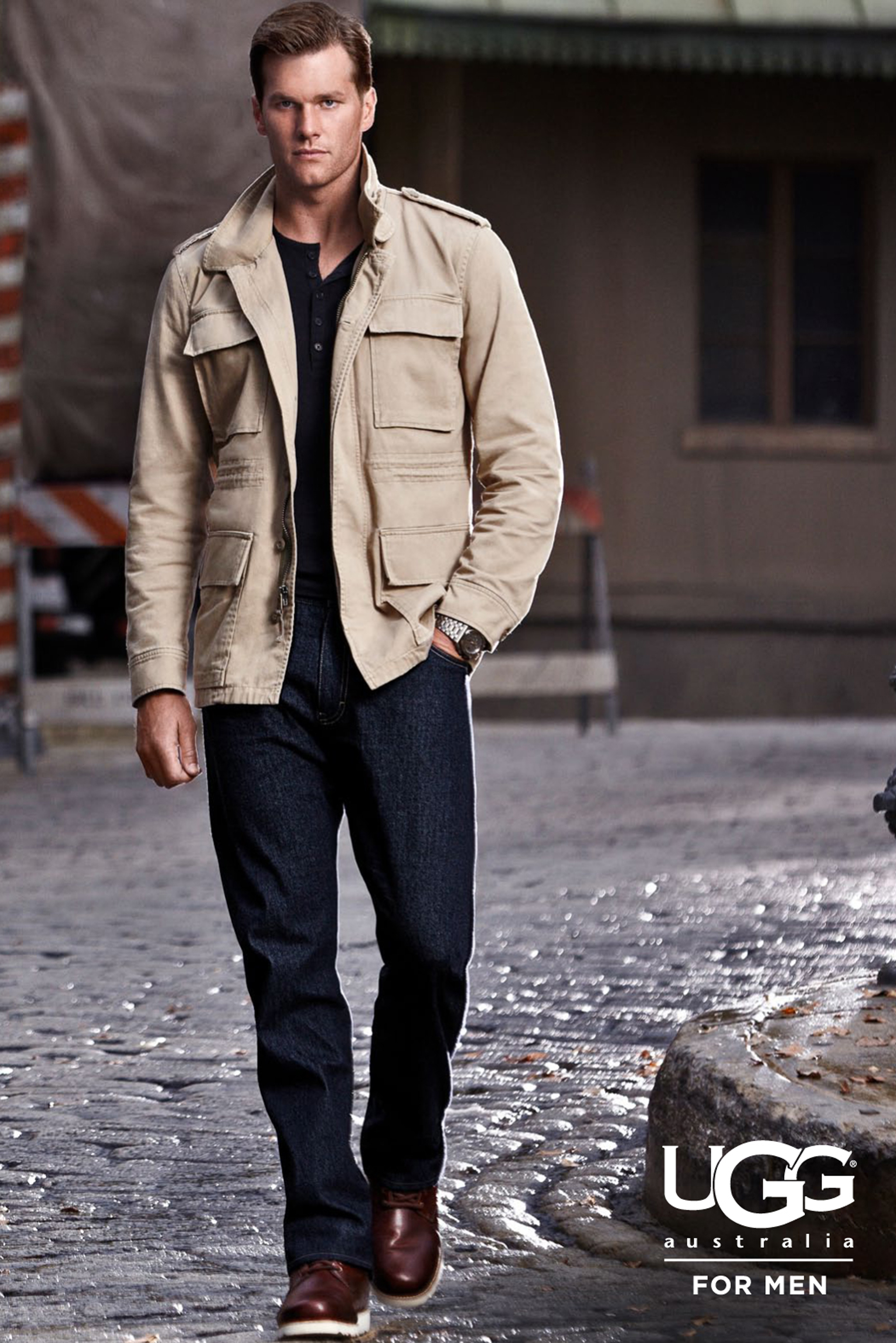 Tom Brady in ad campaign for Ugg.