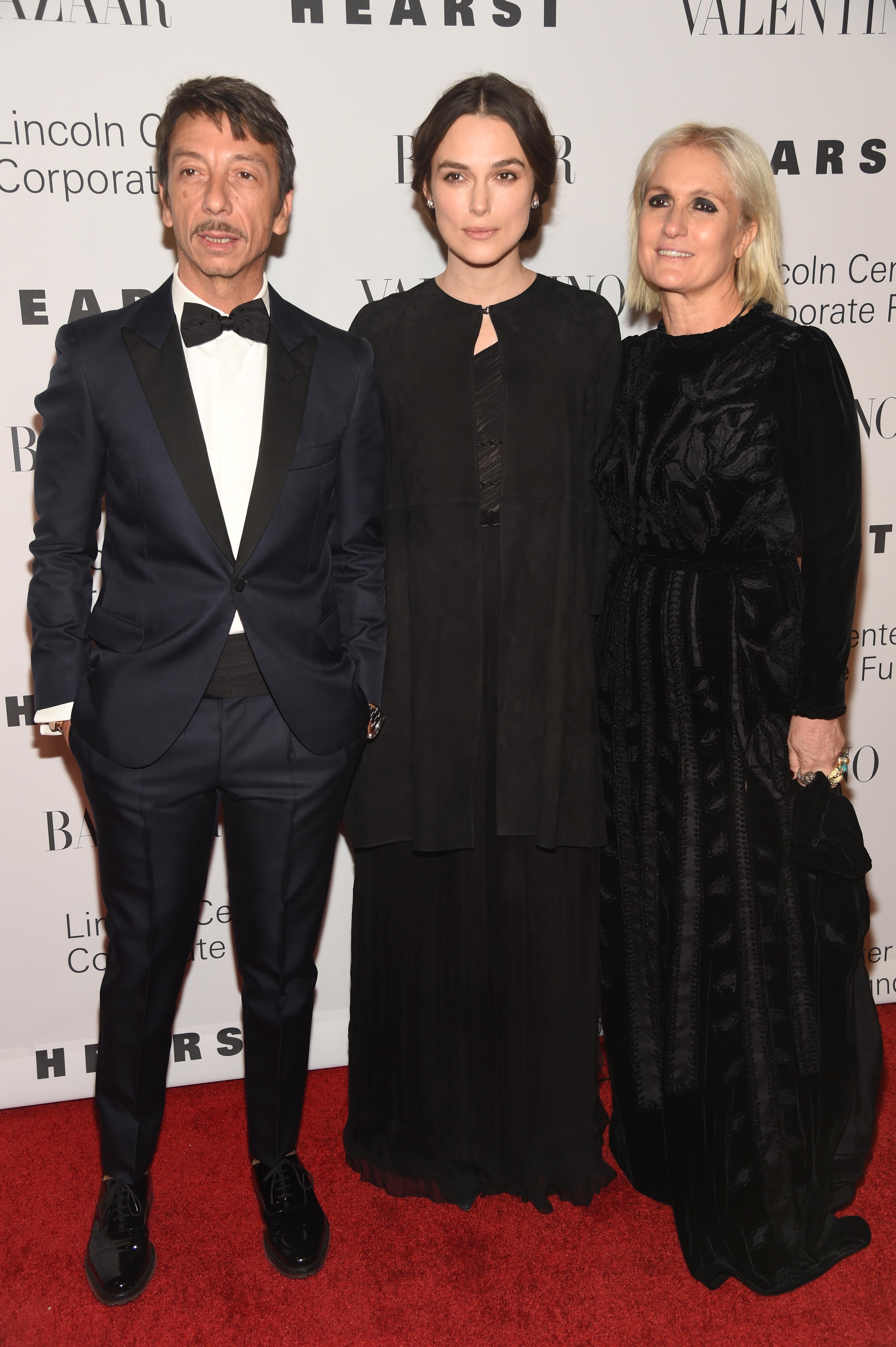 Pierpaolo Piccioli, Keira Knightley and Maria Grazia Chiuri.
