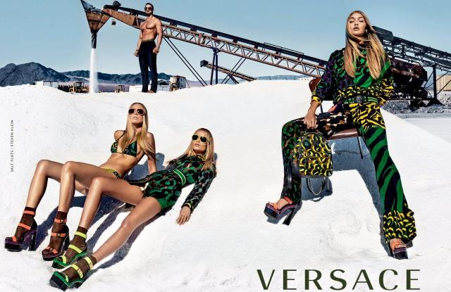 The Versace ad featuring Gigi Hadid, shot by Steven Klein.