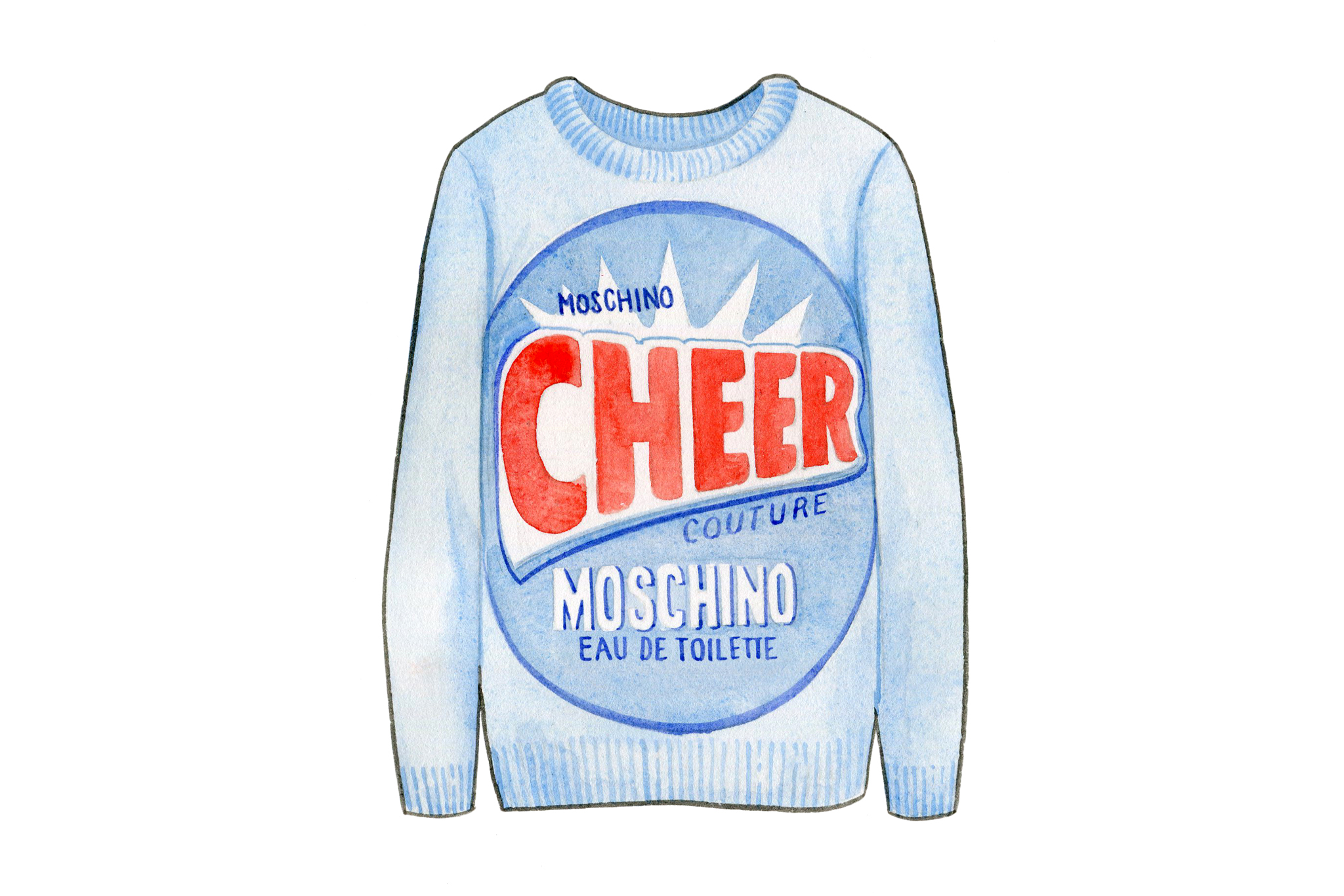 Moschino cleaned up for spring.