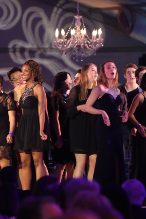 YoungArts winners perform onstage at the YoungArts Backyard Ball.