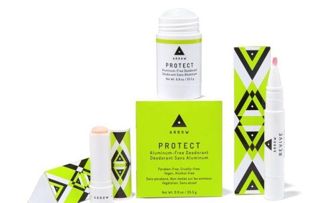 Products from Birchbox's new Arrow brand.