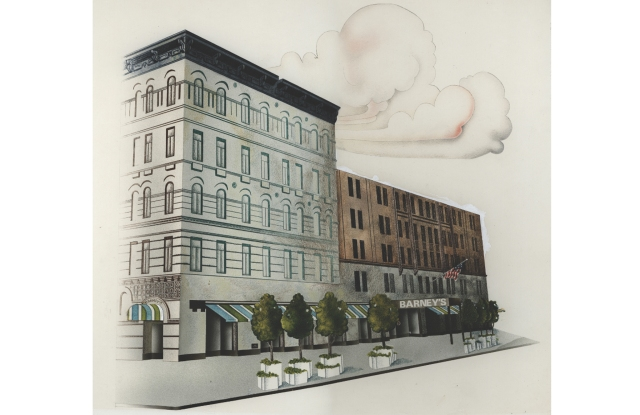 Illustration of the Barneys Chelsea store.
