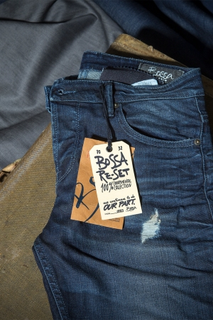 Jeans made of eco-friendly fabric from Turkey's Bossa.