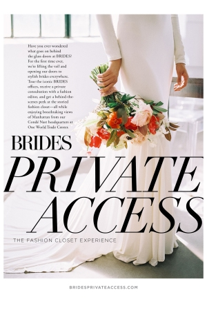 An advertisement for Brides Private Access.