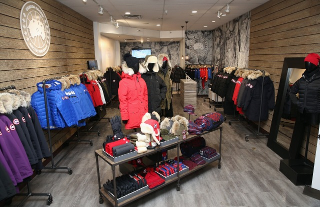 Canada Goose's pop-up shop in Park City, Utah, last winter.