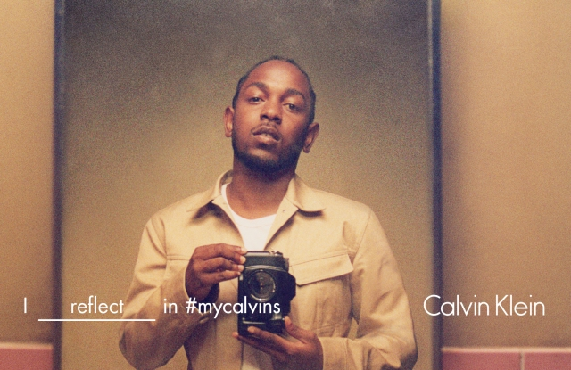 Kendrick Lamar featured in the Calvin Klein spring '16 ad campaign