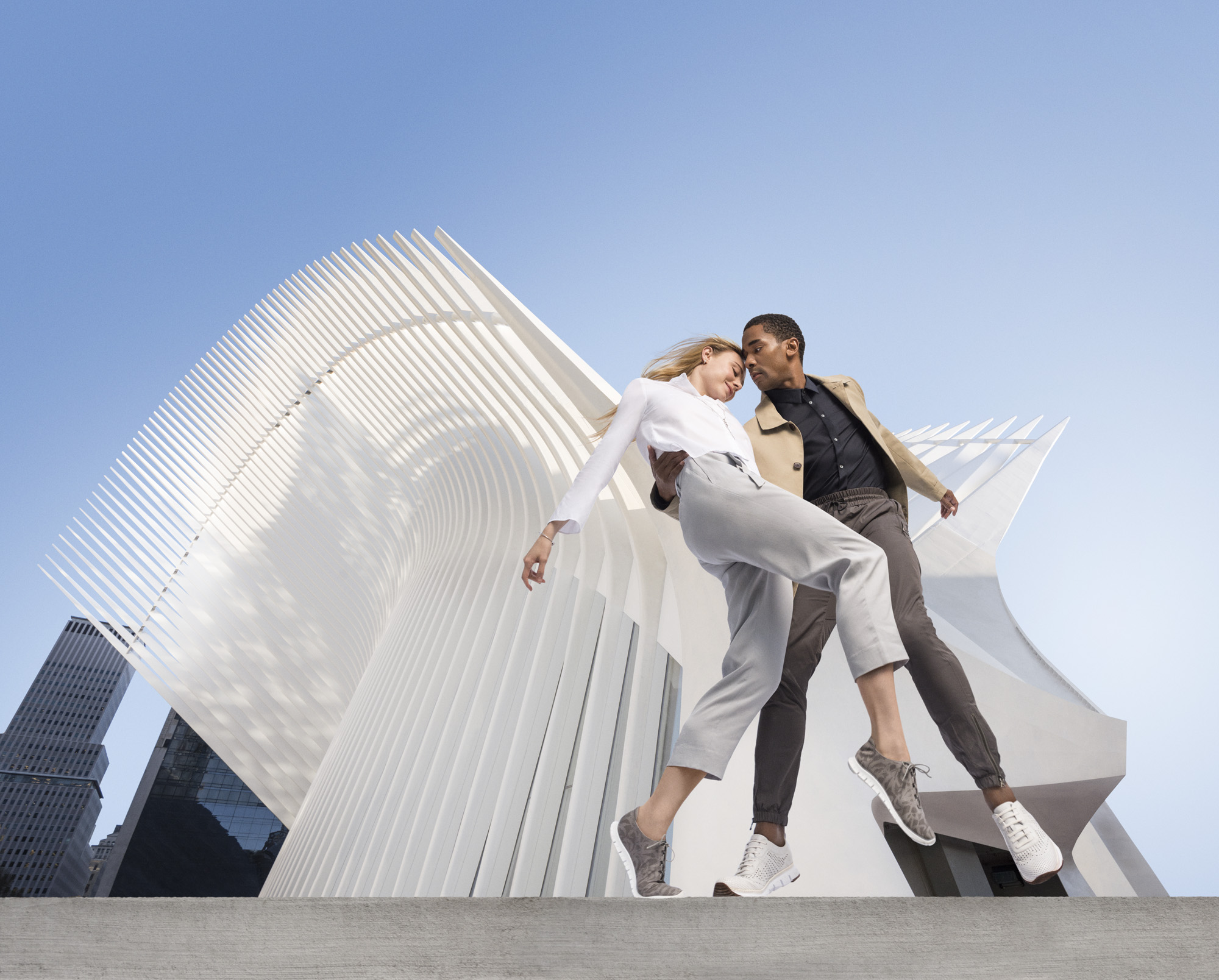 Sara Mearns and Craig Hall, both dancers at the New York City Ballet, in Cole Haan's spring campaign.