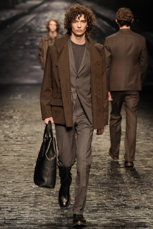 A look from Corneliani's fall '16 collection.
