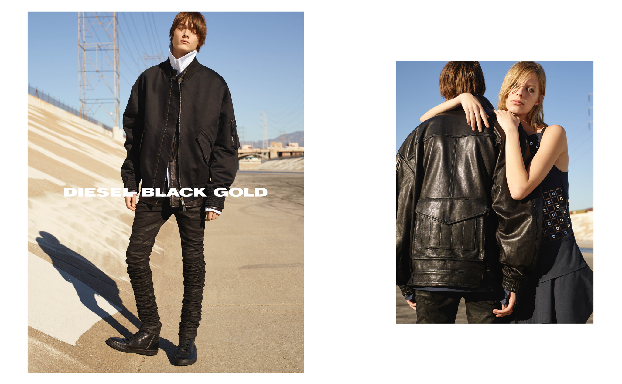 A visual from the Diesel Black Gold spring '16 ad campaign.