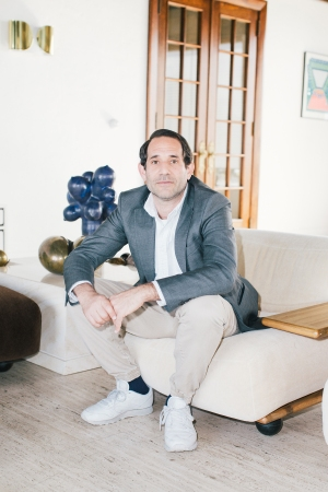 Dov Charney at his home in Los Angeles
