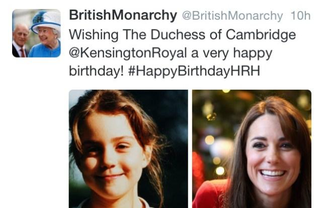 Duchess of Cambridge turns 34