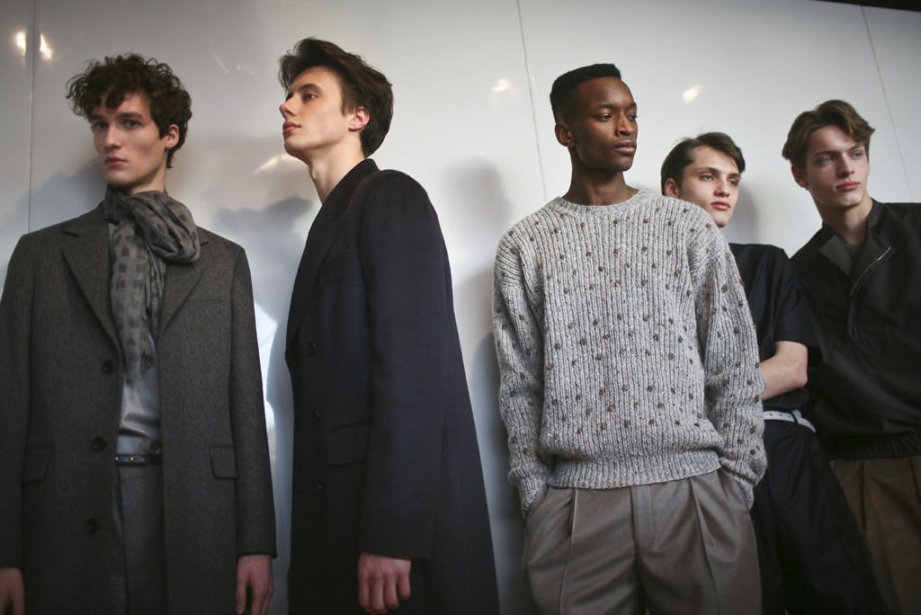 Backstage at E. Tautz Men's Fall 2016