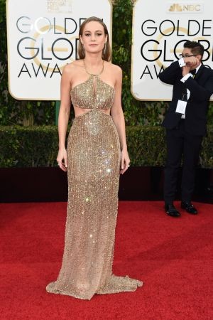 Brie Larson in Calvin Klein Collection.
