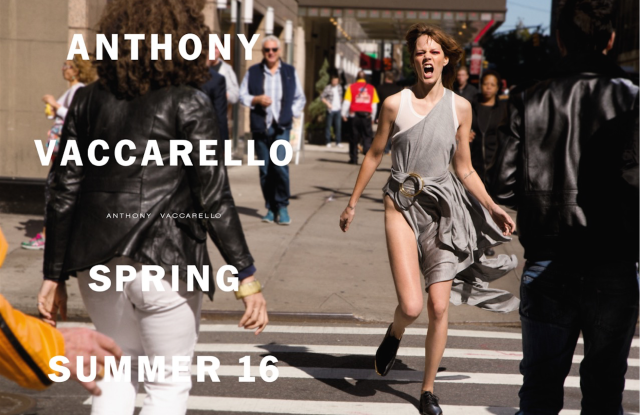 Freja Beha Erichsen in Anthony Vaccarello's spring-summer 2016 campaign