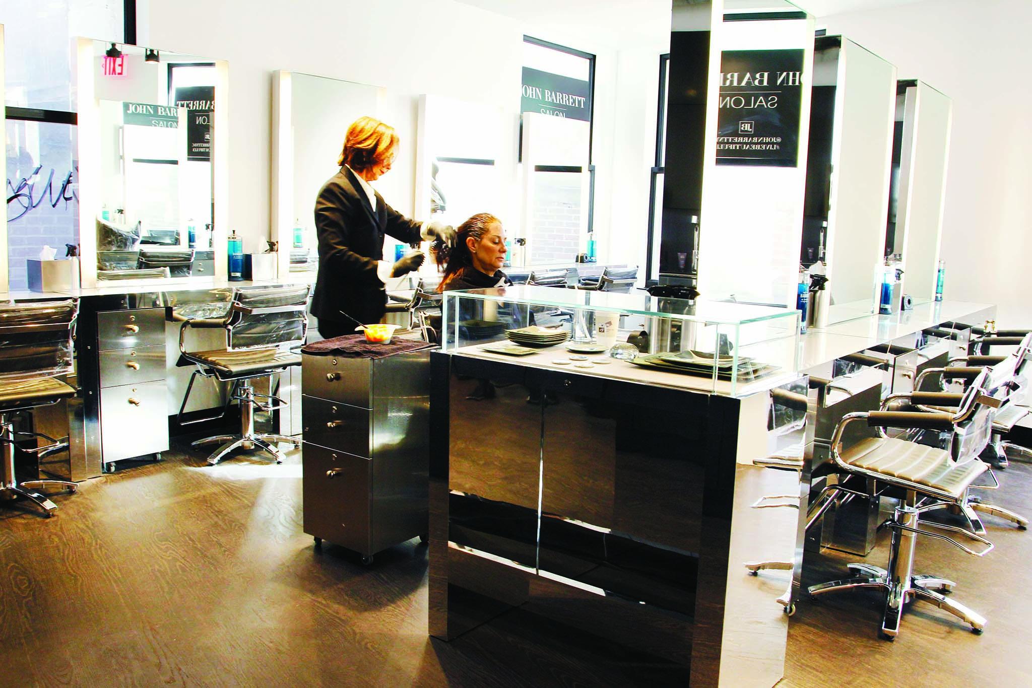 Inside the Bond Street salon.