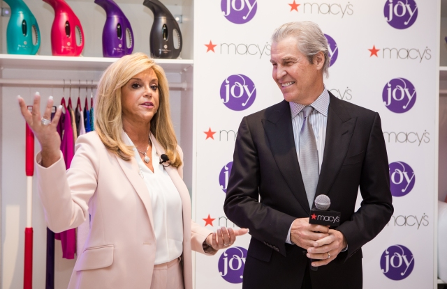 Joy Mangano and Terry Lundgren at Macy's Herald Square