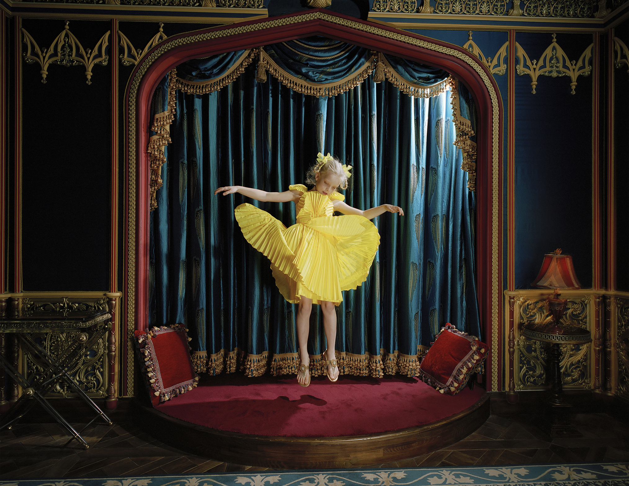 Varvara in Her Home Cinema, Moscow, 2010, photographed by Anna Skladmann