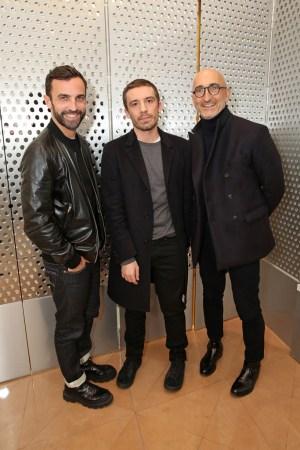 Nicolas Ghesquière, Julien Dossena and Pierre Hardy at Paco Rabanne Dinner Paris Couture S/S 16
