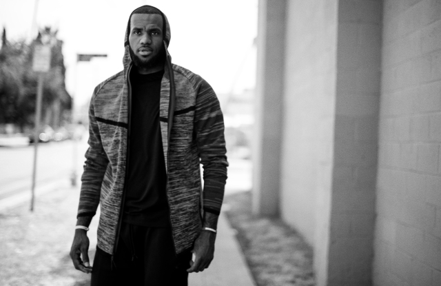 LeBron James featured in Nike's ad campaign for Tech Knit Apparel.