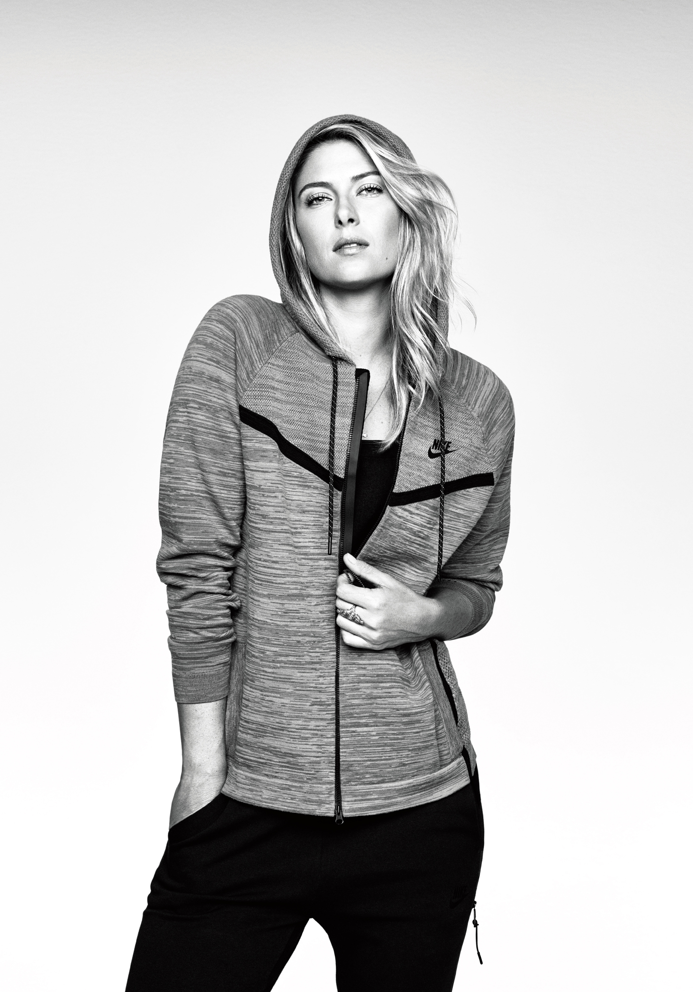 Maria Sharapova featured in Nike's ad campaign for Tech Knit Apparel.