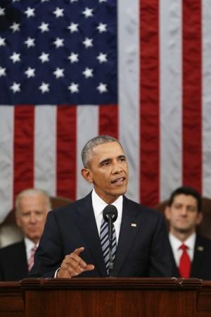 President Barack Obama gives the State of the Union address, Washington D.C.