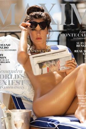 Maxim's December/ January cover.