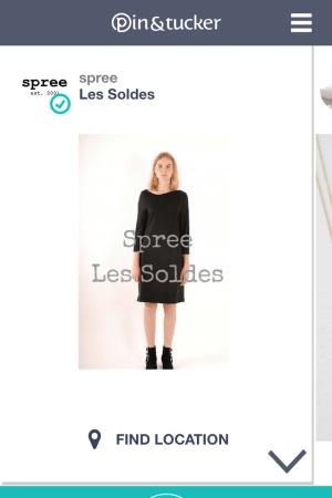 Fashion and retail app Pin & Tucker