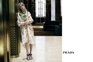 Natalia Vodianova in Prada's new ad campaign