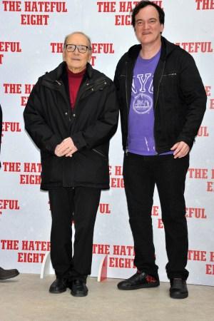 Ennio Morricone and Quentin Tarantino 'The Hateful Eight' film photocall, Rome, Italy - 28 Jan 2016