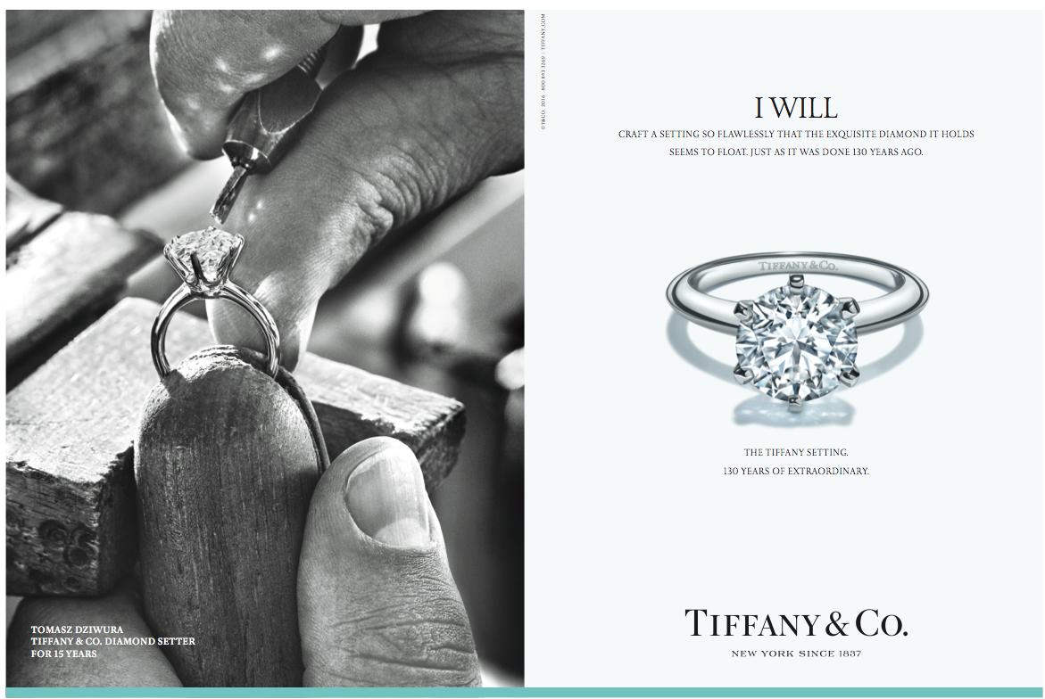 Tiffany ad campaign.
