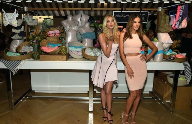 Victoria's Secret Angels Elsa Hosk and Alessandra Ambrosio.