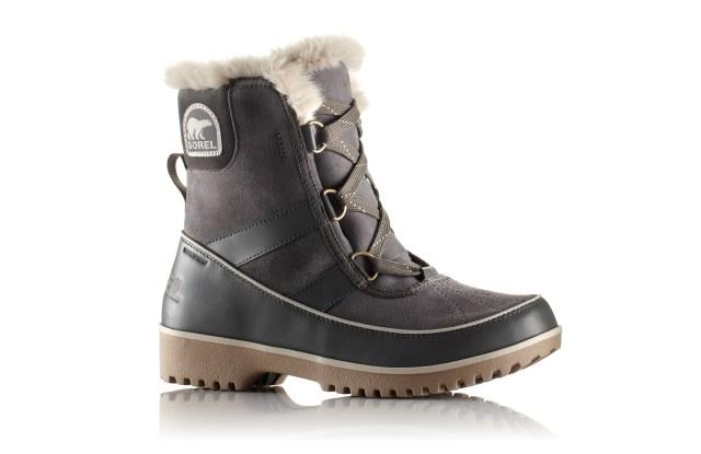 Sorel suede fur-lined boot