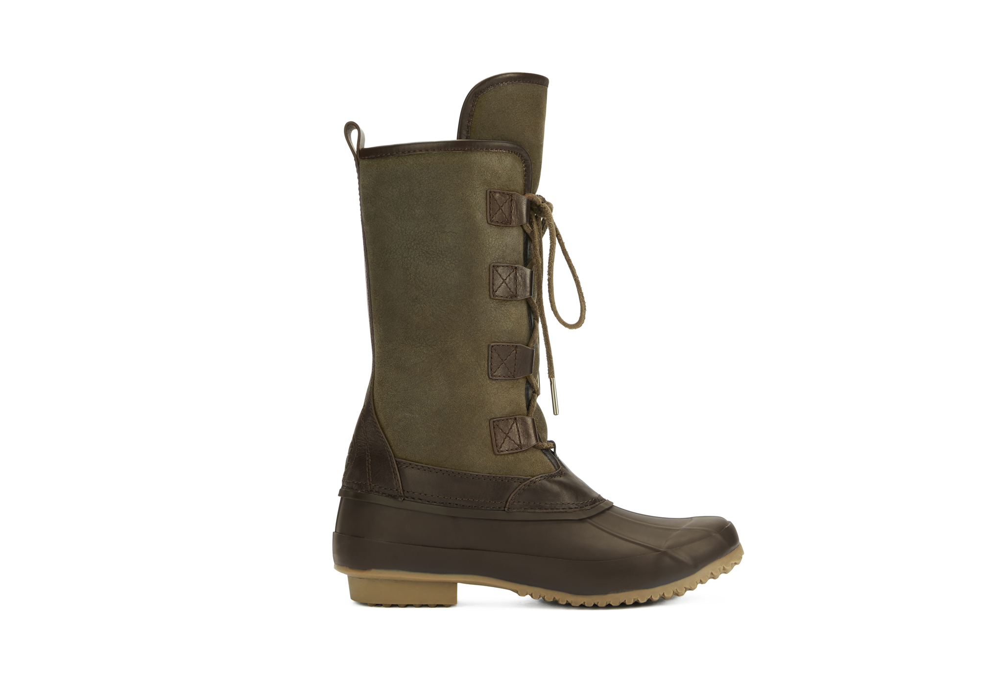 Tory Burch suede and rubber boot