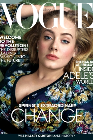 Adele on Vogue's March Issue.