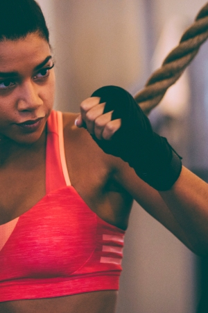 """Hannah Bronfman in the """"I'm Here to Create"""" Adidas campaign."""