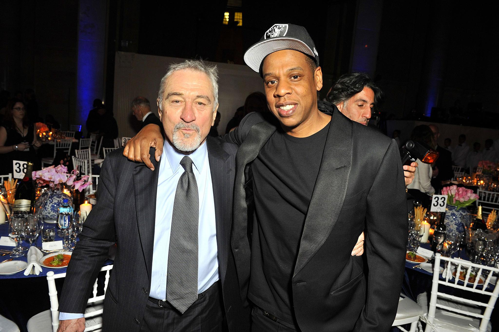 Robert De Niro and Jay Z amfAR gala, Inside, Cipriani Wall Street, New York, America - 10 Feb 2016