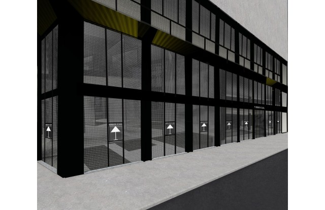A rendering of the future Armani/Casa Milan Store at the former De Padova Space