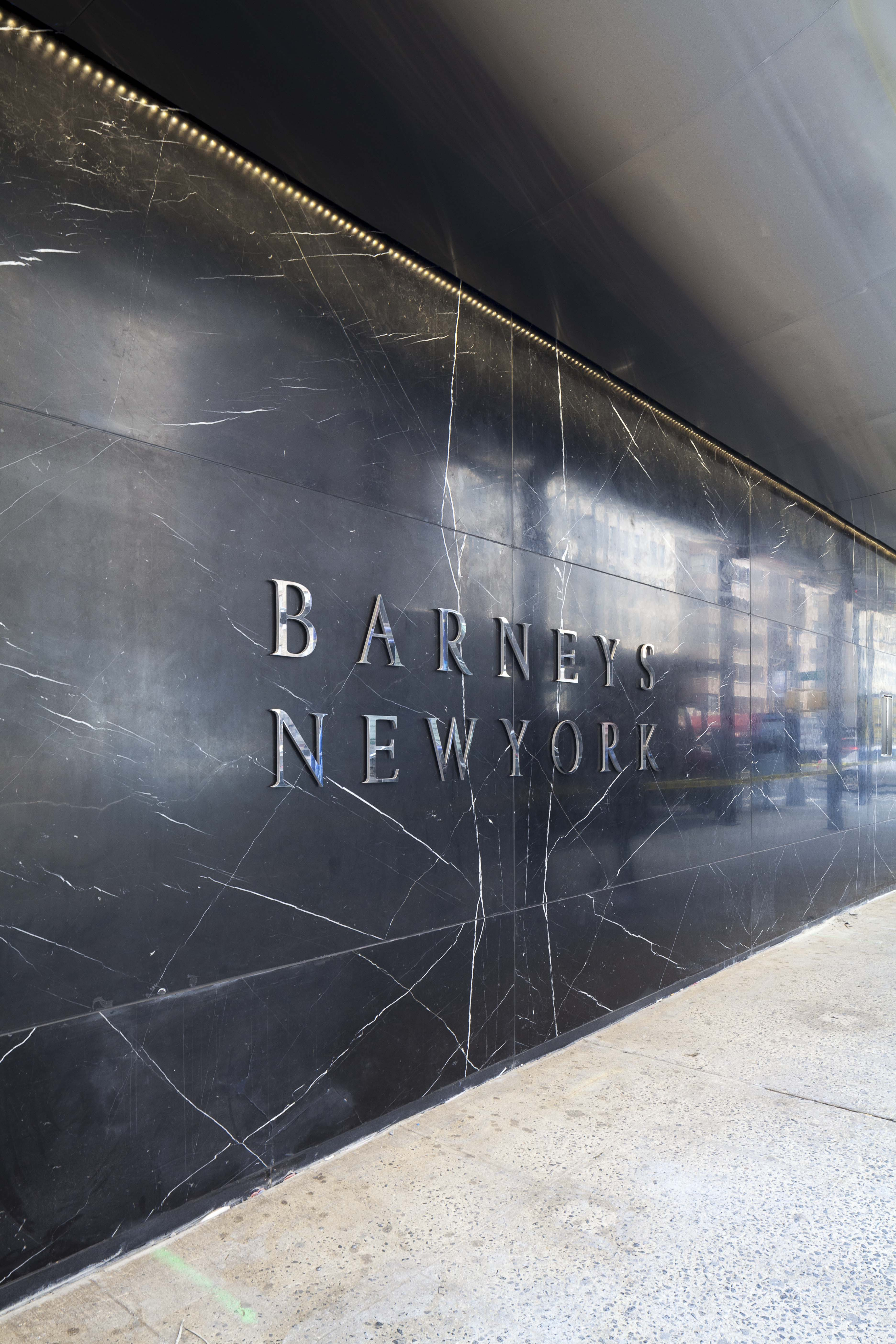Barneys New York marble exterior.